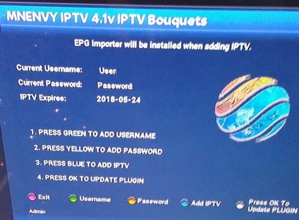 UPDATE IPTV (Satellite boxes)
